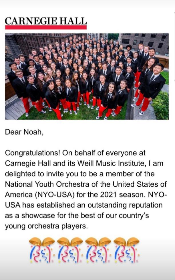 (NYO- USA) – Noah Jung(Clarinet)